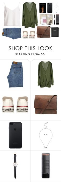 """""""Just going away"""" by yasminferrare ❤ liked on Polyvore featuring Levi's, MÃ¥nestrÃ¥le, Converse, Taschen, Lipsy, Daniel Wellington and FOSSIL"""