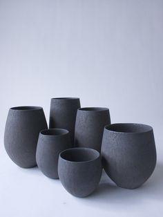 Black Tamago Cup Debu | RYOTA AOKI POTTERY ONLINE STORE