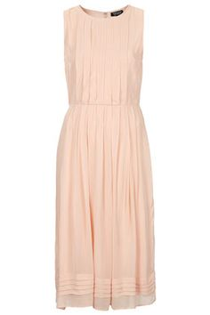 pleated midi dress / topshop