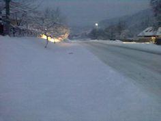 Dimineaţă de iarnă în Preluca, Neamţ