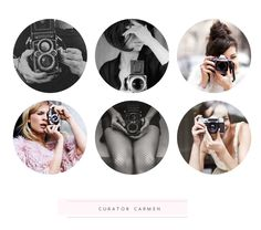 Pinterest Curator Carmen. On today's post I chose of bevy of beautiful girls and their cameras!