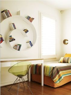 Ero/s/ by Philippe Starck + Bookworm by Ron Arad | A space to grow up Credit: @remodelista