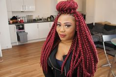 Installing Hair Is Our Passion! The Fact That It Only Takes From Start To Finish Is Why Crochet Is Our Preferred Style. was used to achieve this look, we used our Senegal Twist in colour Crochet Hair Styles, Protective Styles, Burgundy, Hair Beauty, Passion, Colour, Beautiful, Color, Wine Red Hair