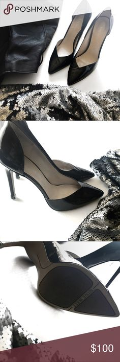 """MAKE OFFER•Nine West """"Goulding"""" Black Patent Pump Nine West """"Goulding"""" Black Patent Pump • 8 1/2 • Only worn a twice, excellent condition! Very Elegant! Can be dressed up or dressed down, very expensive looking Nine West Shoes Heels"""