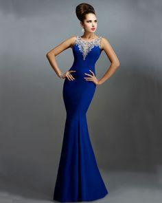 Vestido azul rey elegante