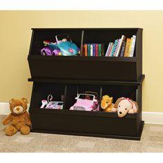 Badger Basket   Stackable Storage Cubbies, Espresso: Toddler : Walmart.com