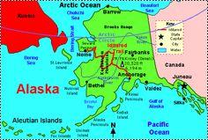 Alaska: Facts, Map and State Symbols Alaska Flag, Gulf Of Alaska, Anchorage Alaska, Fairbanks Alaska, Bethel Alaska, Map Quiz, Yukon River, Us Geography, State Mottos
