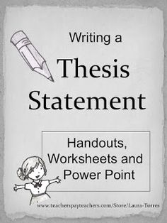 thesis statement anchor chart my own creations  composition classroom writing thesis statements
