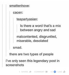 Two Types of People || Words || Tumblr