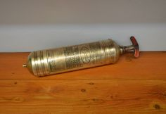 Vintage fire extinguisher brass Pyrene Heavy Vehicle Type firefighter automobilia man cave rustic decor Finton Estate Sale by MaAndPasAttic on Etsy