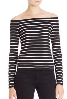 Bailey 44 Jacqueline Striped Off-The-Shoulder Top