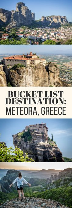 Meteora, Greece, is a true bucket list destination!  Ancient monasteries sit perched precariously atop monstrous limestone pillars in a feat of engineering that seeming defies all logic. A MUST-SEE when traveling to Greece!
