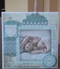 Hallo,   Afgelopen zaterdag heb ik van mijn zus het leuke babyblok van Joy Crafts gekregen. Compleet met mooie plaatjes, achtergrondpapier...