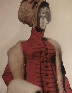 Pelisse with Military Fobs Vintage Outfits, Vintage Fashion, Vintage Clothing, Concordia University, University Of Miami, Pride And Prejudice, Jane Austen, Fashion History, Regency