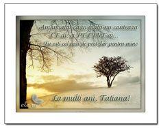 Tatiana - Onomastica - Felicitari - Ele.ro