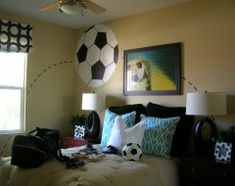 about room ideas on pinterest soccer room soccer and soccer ball
