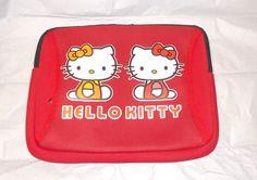 Red Hello Kitty soft case cover I pad kindle zippered pocket nylon New #Sanrio