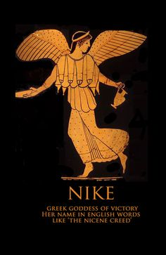 Nike, Greek Goddess of Victory & Nike Words in English like Nicene Creed at Bill Casselman's Words of the World at www.bllcasselman.com