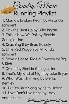 country music running playlist