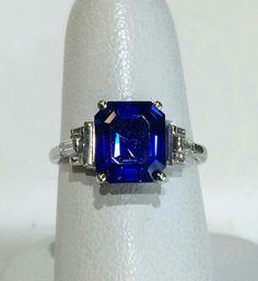 4.45ct  AGL cert unheated Kashmir sapphire