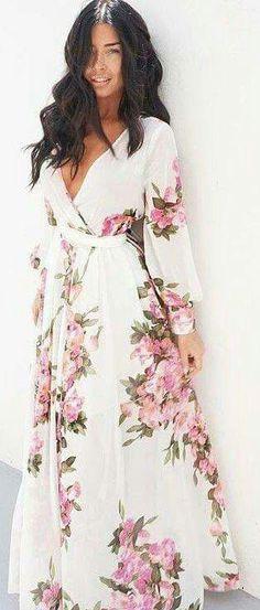 Maxi Wrap Dress, Floral Maxi Dress, Dress Up, Jumper Dress, Dress Skirt, Dress Outfits, Casual Dresses, Summer Dresses, Maxi Dresses