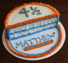 Half birthday cake--what a great way to surprise the kids on their half birthday! {And good excuse for cake!}