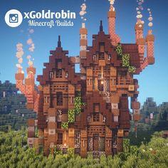 minecraft building ideas I built a steampunk house! : Minecraft I built a steampunk house! Art Minecraft, Minecraft Structures, Minecraft Plans, Minecraft Decorations, Minecraft House Designs, Minecraft Survival, Minecraft Tutorial, Minecraft Blueprints, Minecraft Crafts
