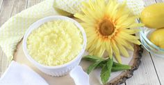 Get silky smooth skin with our homemade Lemon Mint Sugar Scrub. Not only will it leave your skin soft and supple, but it smells amazing, too!