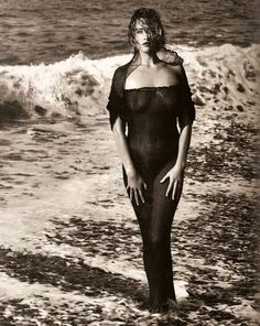 "Tatjana Patitiz in ""Earthly Powers"" by Herb Ritts for Vogue UK April 1989"