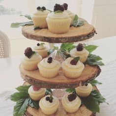 Rustic 3-Tier {Cupcake} Stand