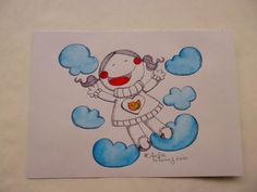 Full of joy - Ink Drawing by LittleLightingWorld on Etsy,   Um dos meus desenhos/One of my drawings