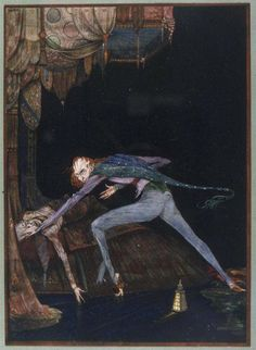 "A painting""The Tell Tale Heart by Harry Clarke"" depicting the tale by Edgar Alan Poe"