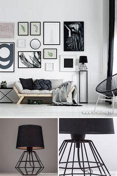 Helemaal trendy zijn draadlampen. Nieuw in deze trend is de draad tafellamp. De kleur, mat zwart, maakt deze dressoir lamp helemaal van nu. De schemerlamp is niet te groot zodat deze in bijna elke ruimte een aanwinst is. Past in de woonkamer, slaapkamer of in de werkkamer maar ook leuk op een sidetable in de hal. #draadlamp #tafellamp #lampen #verlichting #scandinavisch #straluma