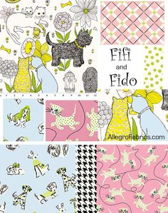 Fifi and Fido Fabrics by Anna Griffin