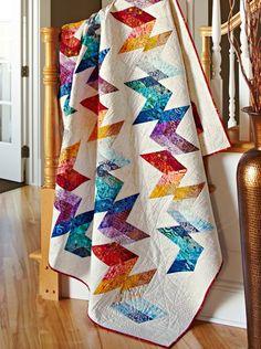 Flight Plan by designer Kimberly Einmo. Fabrics are from the Artisan Batiks collections by @Lunn Studios for @Robert Kaufman Fabrics.