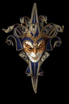 Joker Damascato a 13 punte | vendita maschere veneziane online: artigianali e prodotte a venezia