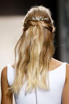pretty half-up hair