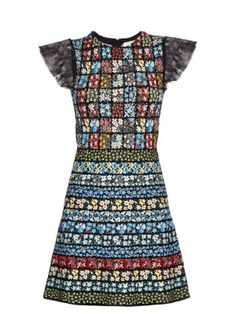 Floral patchwork intarsia-knit dress | Valentino | MATCHESFASHION.COM