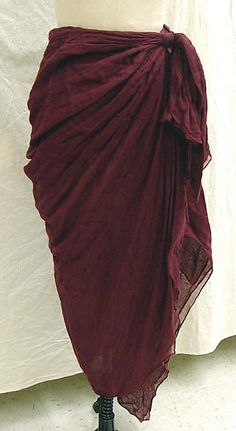 "Skirt - Romeo Gigli - MMoA - c1986 - 49"" center back - rear (?) view 3"