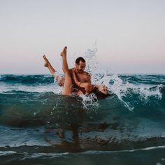 "201 Likes, 13 Comments - Inka Junge (@inkajunge) on Instagram: ""I still love this shot from last summer 😍 #travel #couple #lovestory # together #waves #love…"""
