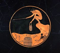 Drinking cup (kylix), Greek, Late Archaic Period, about B. Ancient Greek Art, Ancient Greece, Greek History, Art History, Greek Drawing, Archaic Greece, Greek Paintings, Greek Pottery, Art Ancien