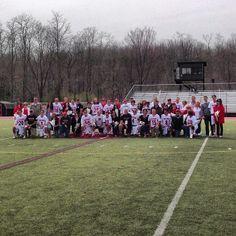 Instagram user @frostburgsports wants to thank the 2014 men's lacrosse 17-man senior class! #instaFrostburg