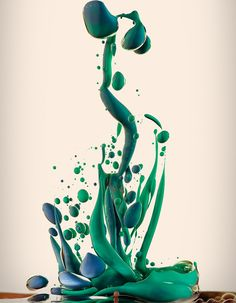 Alberto Seveso - I love how the coloured ink in the oil creates shapes that almost look sculptural, and the fact that these are high speed photos captures the beauty of the oil in that split second, which would be impossible to ever create again to look the same.