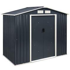 VonHaus Metal Garden Shed – Outdoor Patio Storage Building, Solid Steel Waterproof Tool/Bike House – 7 X 4ft