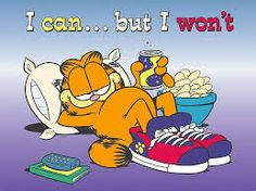 Garfield is one of greatest comic strip which created by James Jim Davis in Garfield is the name of Davis's grandfather.First Garfield is introduced as daily newspaper cartoon and this cartoon get big hit and later this is based. Garfield Cartoon, Garfield Comics, Garfield Quotes, Garfield Pictures, Funny Pictures, Garfield Wallpaper, The 11th Hour, Lazy People, Love Wallpaper