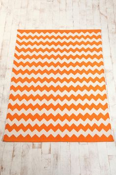 Zigzag Printed Rug  Online Only  $39.00-$74.00    I like the yellow, orage and lt.blue...hmmm
