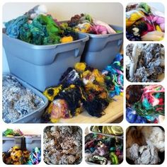 Image of CARDABLES: 8 ounce bag of mixed fiber