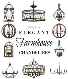 cool Rustic + Elegant - #FixerUpper #FarmhouseStyle #Chandeliers from Lamps Plus - Pe... by http://www.top-100-home-decorpictures.review/dining-room-decorating/rustic-elegant-fixerupper-farmhousestyle-chandeliers-from-lamps-plus-pe/