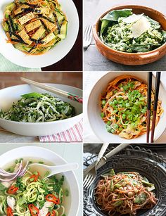Here's a fun way to get your daily dose of vegetables: turn them into noodles. Not sure where to start? We rounded up the best, most creative veggie-noodle dishes on the Internet, ranging from a fresh take on chicken pho to a satisfying yet pasta-free macaroni and cheese. Bust out your julienne peeler, mandoline, or spiralizer — or in the case of spaghetti squash, a fork — and then dig in!