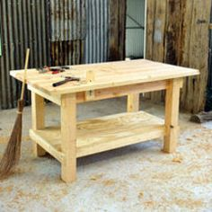 Woodworking Bench Plans Check out my woodworking site at www. for more woodworking information. Woodworking Bench Plans, Learn Woodworking, Woodworking Jointer, Woodworking Classes, Popular Woodworking, Furniture Plans, Diy Furniture, Workbench Plans, Garage Workbench